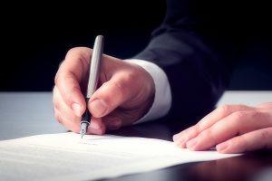 Eine Bürgschaft ist ein einseitig bindender Vertrag.