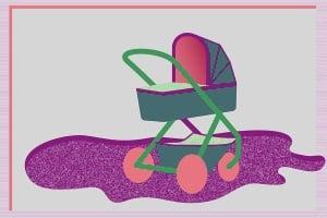 Wenn genug Platz ist, darf ein Kinderwagen im Treppenhaus stehen.